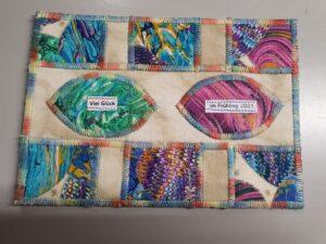 Textile Postkarte